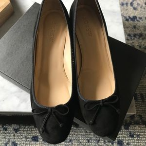 J. Crew Suede Bow Pumps